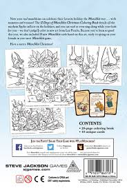12 days of christmas coloring page 12 days of munchkin christmas coloring book