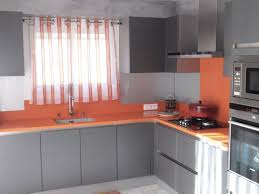 cuisine gris et cuisine orange et gris pas cher sur cuisine lareduc com