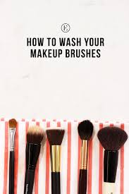 how to clean your makeup brushes the everygirl