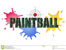 paintball birthday invitation royalty free stock images image