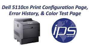 dell 5110cn configuration page error history u0026 color test page