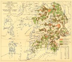 somerset map map of somerset county showing the forest areas by commercial types