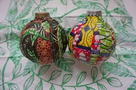amazing diy wax print ornaments for a global tree