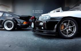 nissan r34 black nissan skyline r34 gtr police car japan vs porsche 911 930 turbo