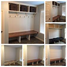 Cubby Storage Bench by Custom Mudroom Bench With Open Shoe Storage Open Area For Coats