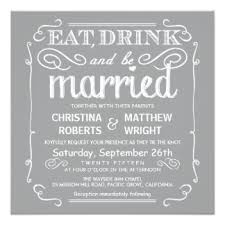 Eat Drink And Be Married Invitations Retro Wedding Invitations U0026 Announcements Zazzle Co Uk
