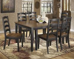 owingsville dining room extension table u0026 6 side chairs d580 01