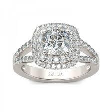 cushion cut split shank engagement rings jeulia halo split shank cushion cut created white sapphire