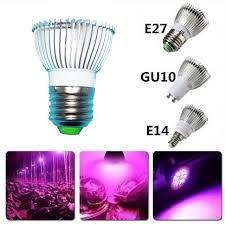 18 aquarium light fixture 18w full specturrm led grow light bulb 18 leds ac85 265v e27 e14