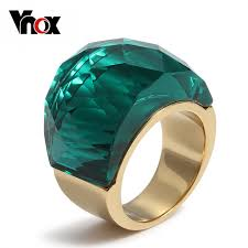 big stone rings images Vnox big stone rings for women unique gold color stainless steel jpeg