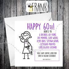 60 years birthday card rude alternative sarcastic birthday card 60th birthday