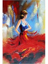 santin ballerina paintings on canvas stretched and