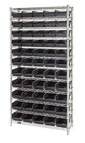 Storage Bin Shelves by Conductive Esd Plastic Storage Bin Wire Shelving System Wr12