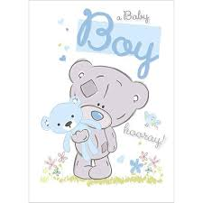 me to you tatty teddy bear cards baby shower new born birth message inside card reads a beautiful baby boy to brighten every day