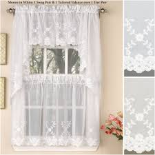 Blue And Yellow Kitchen Curtains Decorating Decoration 60 Inch Window Valance 24 Cafe Curtains Black And