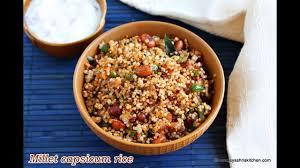 cuisine milet millet capsicum podi rice