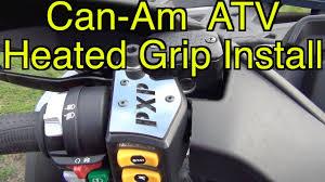 can am brp atv heated grip install sept 22 2016 youtube
