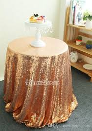 72 round rose gold sequin table cloth covers for wedding party or