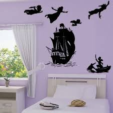 chambre pirate alin sticker pack silhouette pan s envole bateau pirate capitaine