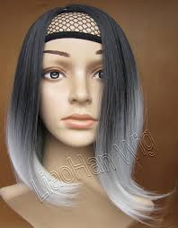 best shoo for gray hair for women fashion two tone ombre wig straight short wig full head wigs dip