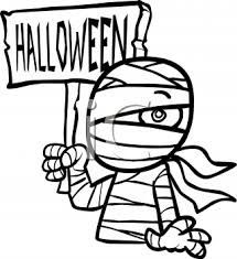 halloween mummy costume royalty free clip art picture