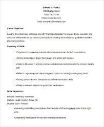 Cable Installer Resume Pharmacy Technician Resume Examples Resume Example And Free