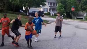 backyard basketball game 1 youtube
