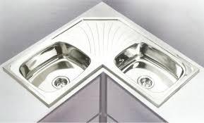 double bowl corner kitchen sink k m corporation chennai id