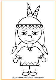 Thanksgiving Coloring Sheets Kindergarten Native American Boy Coloring Page Thanksgiving Coloring Pages