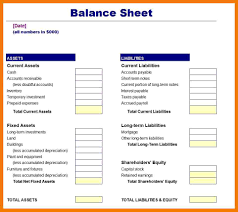 Business Balance Sheet Template Excel by 8 Basic Balance Sheet Template Mailroom Clerk