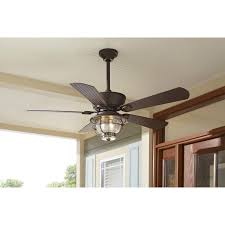Outdoor Ceiling Fans With Light Shop Harbor Merrimack 52 In Antique Bronze Outdoor Downrod