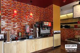 glass tile designs in restaurants stores and food courts