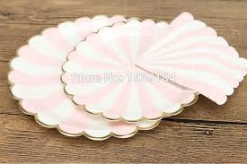 light pink paper dinner napkins free shipping 920pcs scalloped gold foil edge paper tableware set