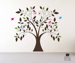 Vinyl Tree Wall Decals For Nursery by Tree Wall Decal Whimsical Nursery Vinyl Wall Stickers Art