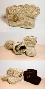 crochet wrap crochet wrap around button infant boots and boys ashlee