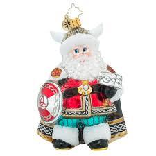 christopher radko ornaments radko viking santa viking