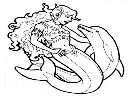 dolphin mermaid coloring pages mermaid dolphin coloring pages