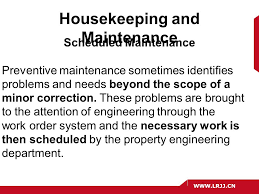 the role of housekeeping in hospitality operations ppt video