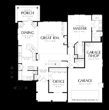 mascord house plan 22134a the hannah image for hannah vaulted great room open to dining area main floor plan