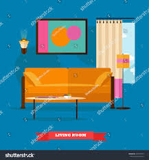 living room interior flat style vector stock vector 428431639