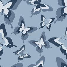 seamless pattern with black white and grey butterflies stock
