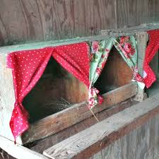 the homestead survival chicken nesting box curtains project