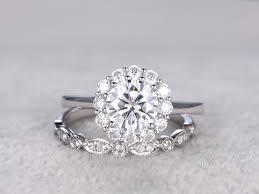 diamond wedding ring sets moissanite engagement ring set diamond wedding bands white