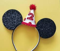glittery mouse ears headband birthday ears minnie mouse