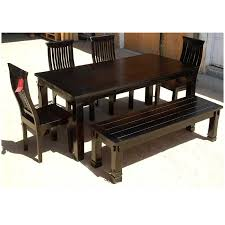 Rosewood Dining Room by Transitional Solid Wood Dining Bench