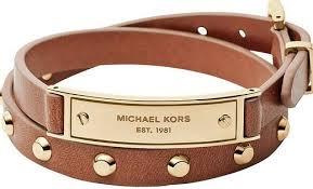 leather bracelet designs images Michael kors heritage plaque leather bracelet designer online jpg