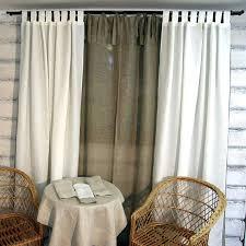 tie top curtains faux linen border tie top curtains tie tab top