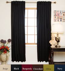108 In Blackout Curtains by Amazon Com Black Rod Pocket Energy Saving Thermal Insulated