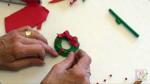 polymer clay how to make a christmas wreath youtube