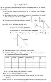 trigonometric ratios worksheets math aids com pinterest